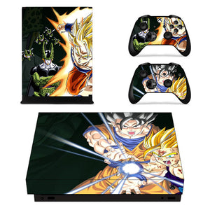 Skin Xbox One X Goku Gohan Cell Dragon Ball Z