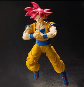 Figurine Articulée Sangoku Super Saiyan God Volant Dragon Ball Super