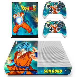 Skin Xbox One S Goku SSJ Blue Dragon Ball Super