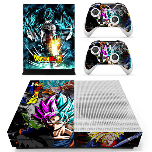 Skin Xbox One S Goku Vegeta SSJ Blue Vs Black Goku SSJ Rose Zamasu Dragon Ball Super
