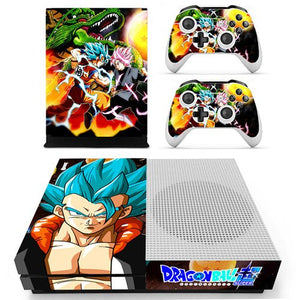 Skin Xbox One S Gogeta SSJ Blue Dragon Ball Super