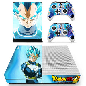 Skin Xbox One S Vegeta SSJ Blue Dragon Ball Super