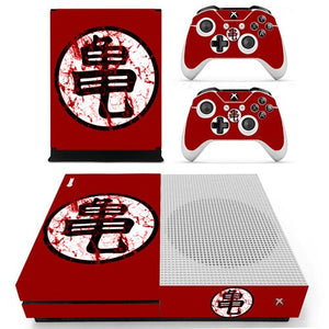 Skin Xbox One S Goku Logo Rouge Dragon Ball