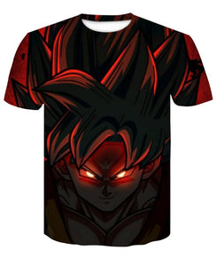 T-Shirt Goku Maléfique Visage Dragon Ball