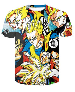 T-Shirt Gohan Multiples Transformations Dragon Ball Z