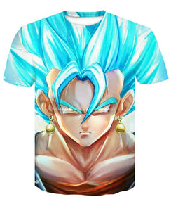 T-Shirt Vegetto SSJ Blue Visage Dragon Ball