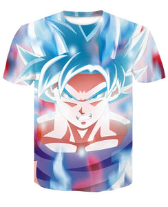T-Shirt Goku SSJ Blue Kaïô-Ken Dragon Ball