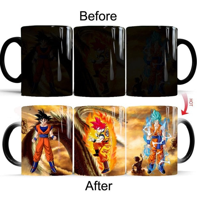 Mug Thermoréactif Dragon Ball : Goku Multiples Transformations