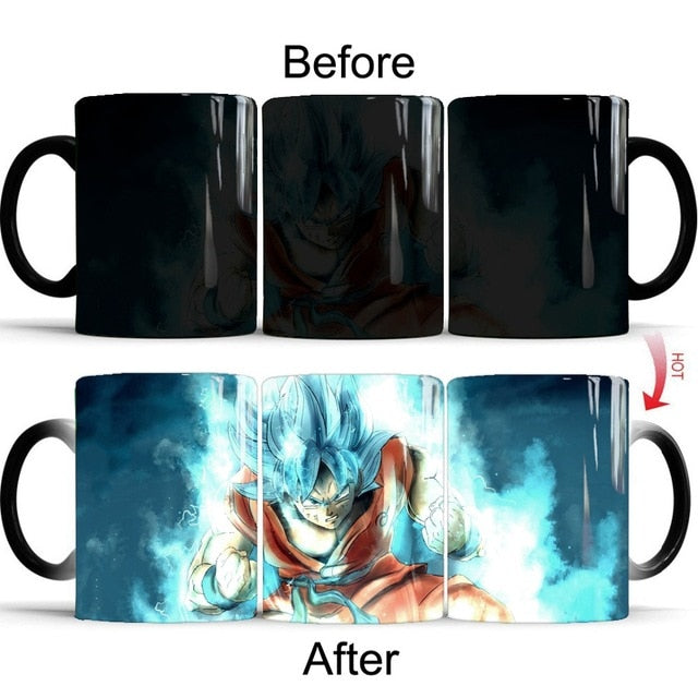 Mug Thermoréactif Dragon Ball Super (DBS) : Goku Super Saiyan Blue