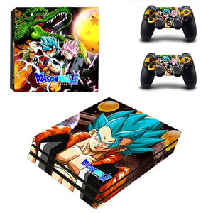 Skin PS4 Pro Gogeta SSJ Blue Dragon Ball Super