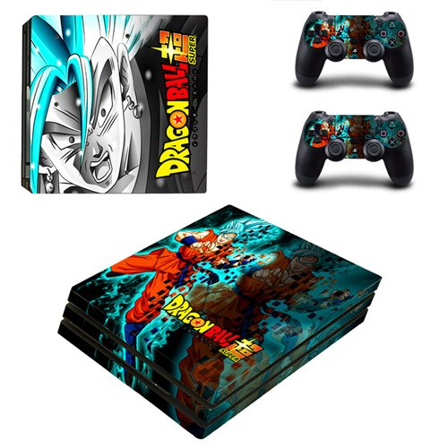 Skin PS4 Pro Vegeta SSJ Blue Goku SSJ Blue Dragon Ball Super