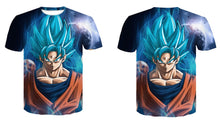 T-Shirt Sangoku Super Saiyan Blue Visage Dragon Ball