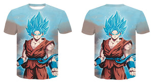Tee-Shirt Sangoku Super Saiyan Blue Dragon Ball