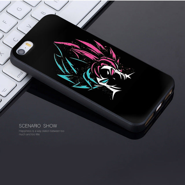 Coque Iphone Goku SSJ Blue Black Goku SSJ Rose Fusion Visage Dragon Ball Super