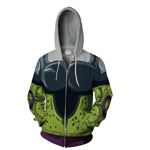 Veste Cell Forme Parfaite Dragon Ball (DBZ)