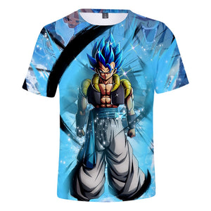 T-Shirt Dragon Ball Super Gogeta SSJ Blue