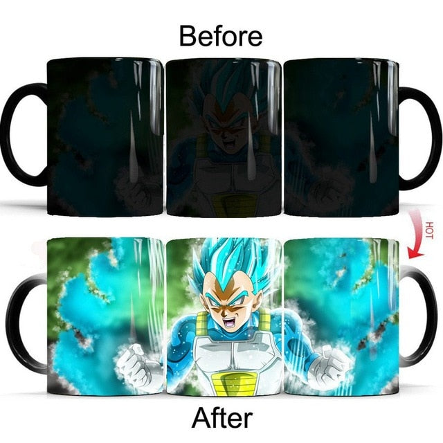 Mug Thermoréactif Dragon Ball : Vegeta SSJ Blue