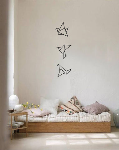 Origami Birds Steel Wall Deco