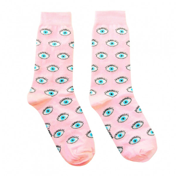 Pink Eye Socks
