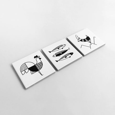 Animalia Ceramic Coasters