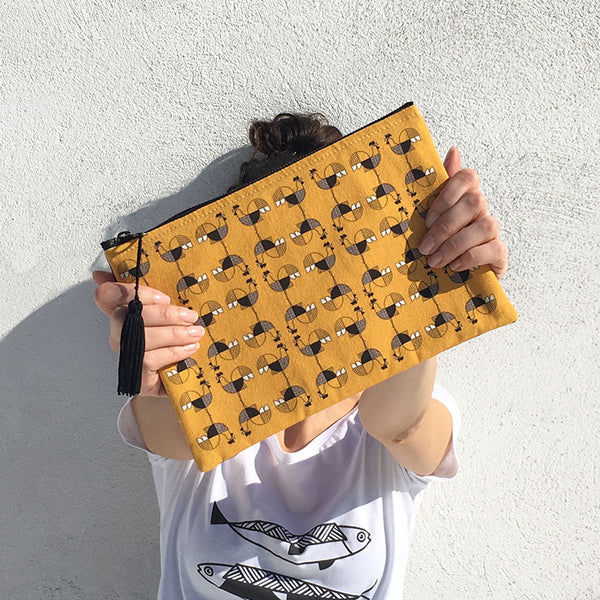 Animalia Canvas Pouch