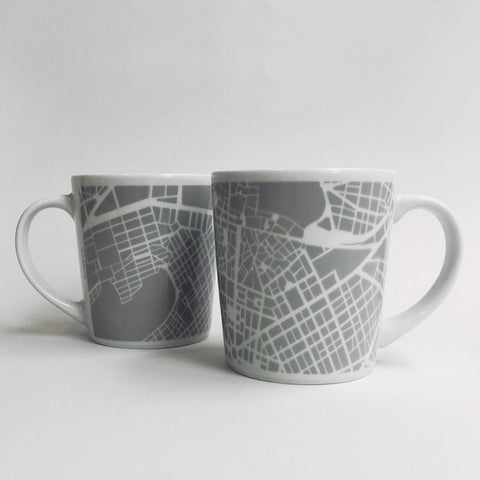 Athens Large Map Mug