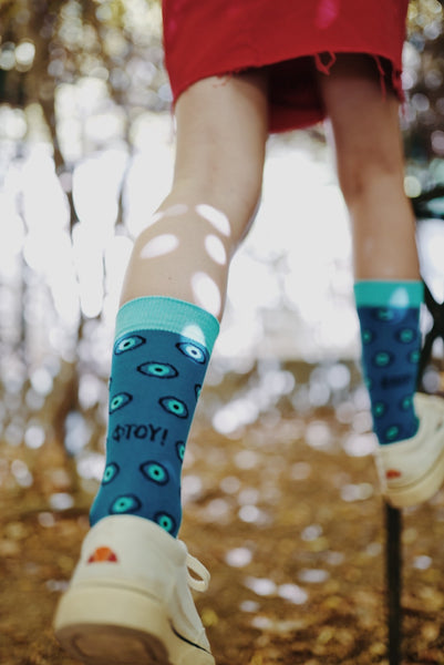 Blu Eyes Socks