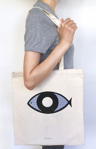 Fish-eye Tote Bag