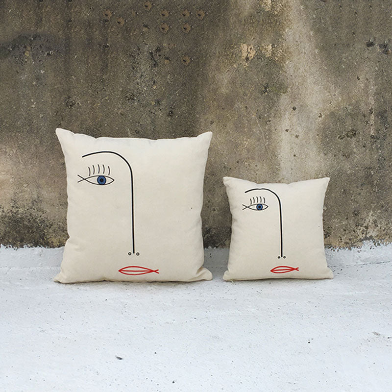 Face Square Cushion Cover