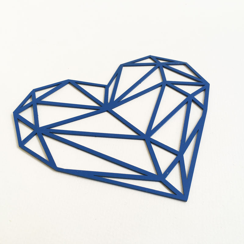 Origami Heart Steel Wall Deco