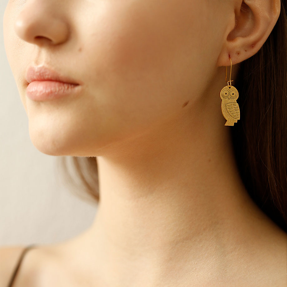 Athena's Owl Earrings