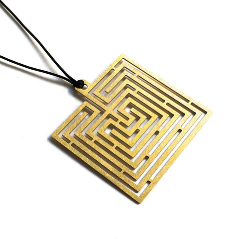 Labyrinth Square Pendant