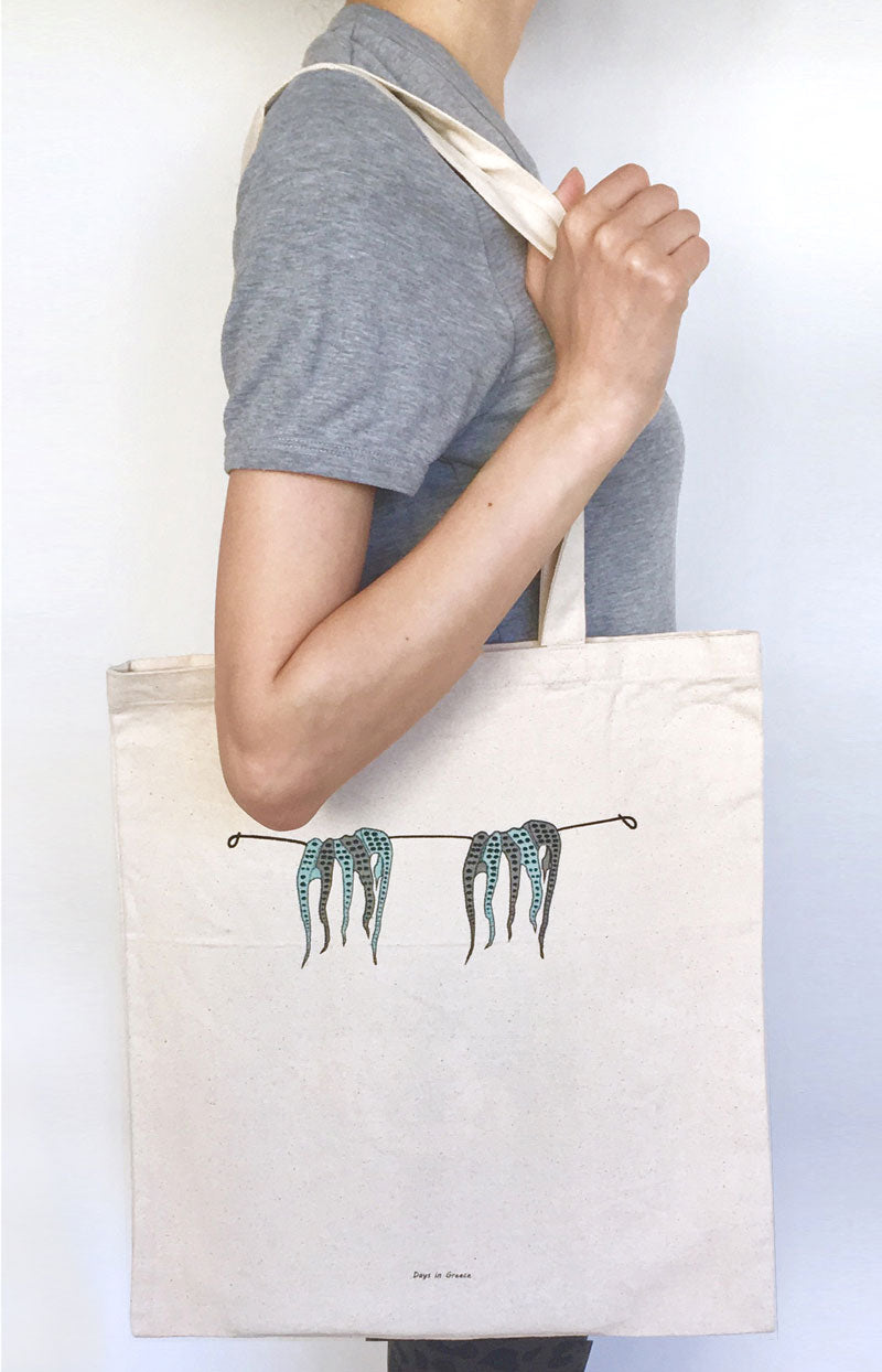 Twin Octopus Tote Bag