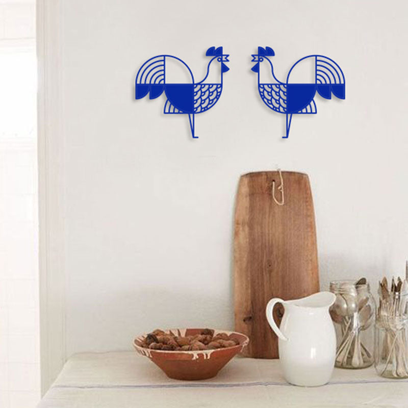 Rooster Steel Wall Deco