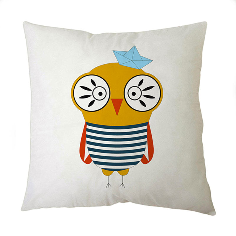 Sailor Owl Square Cushion Cover