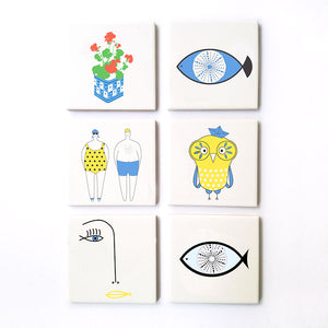 Summertime Ceramic Coasters