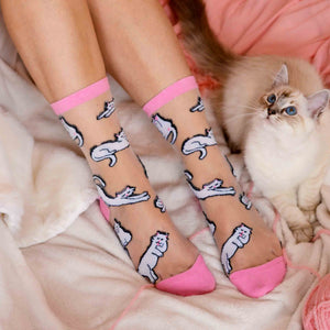 Cat Sheer Socks