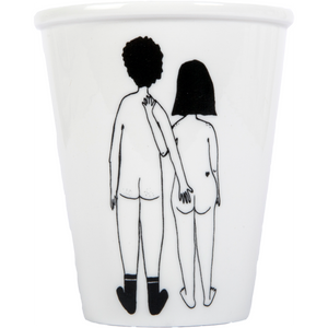 Naked Couple Back cup