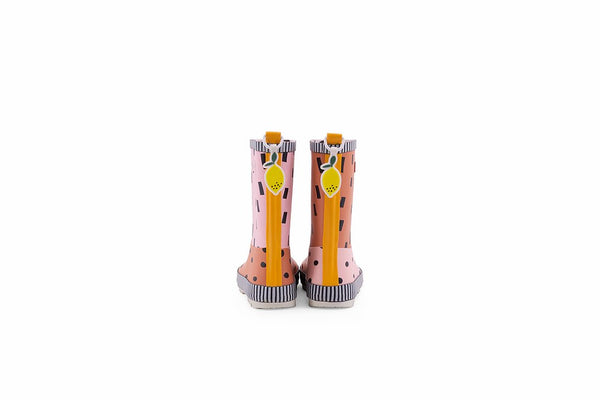 Rain boots | candy pink + faded orange + carrot orange