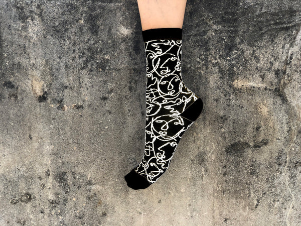 Faces Black Socks