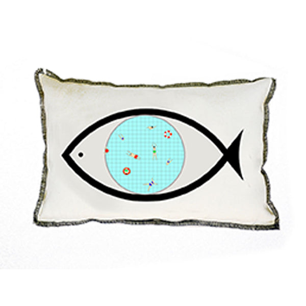 Fish-eye cushion