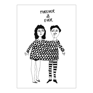 Forever & ever happy together Greeting card