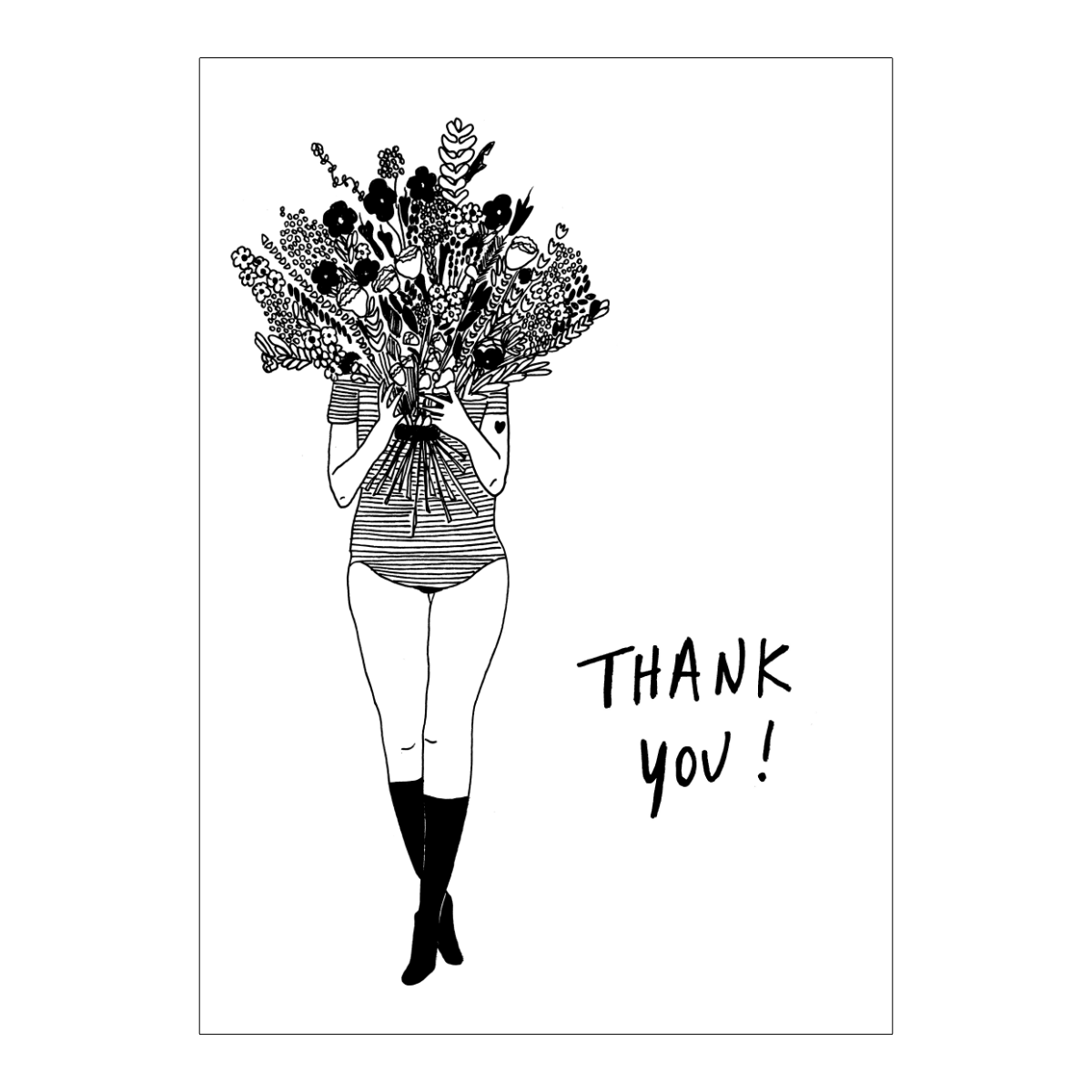 Thank you flower girl Greeting card