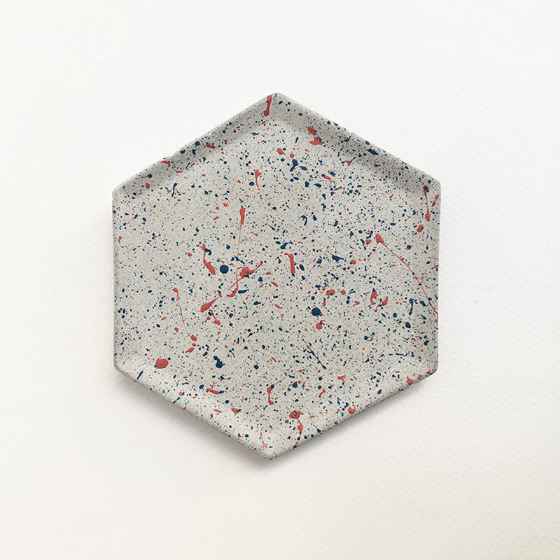 Speckled Hexagon Tray