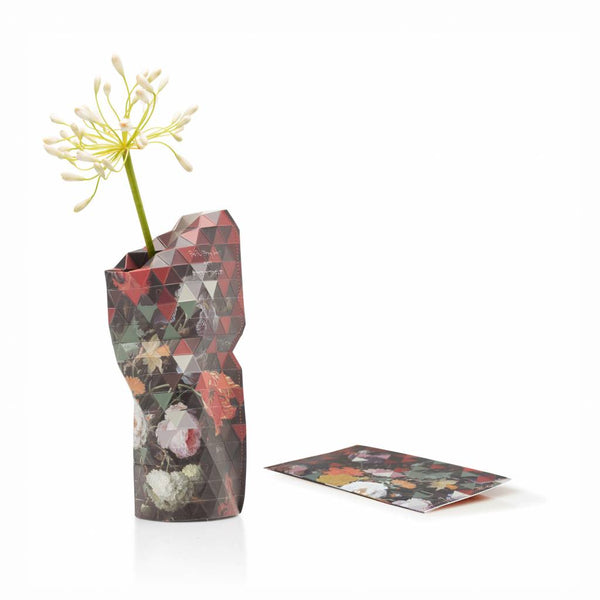 Small Paper Vase Cover - Still life with flowers