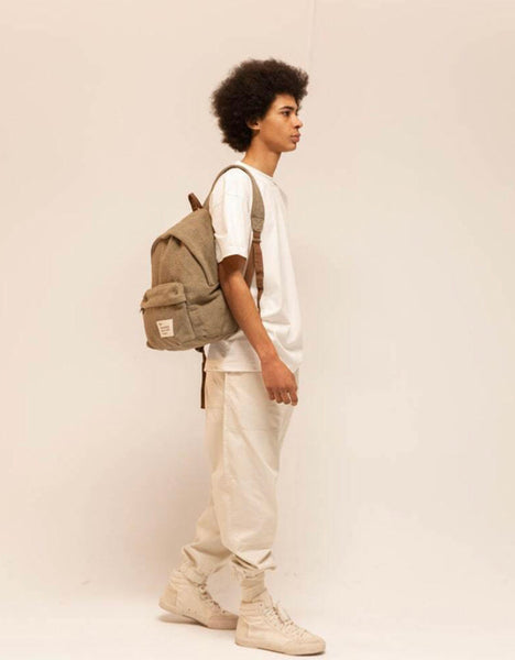 Message Backpack Hemp Green
