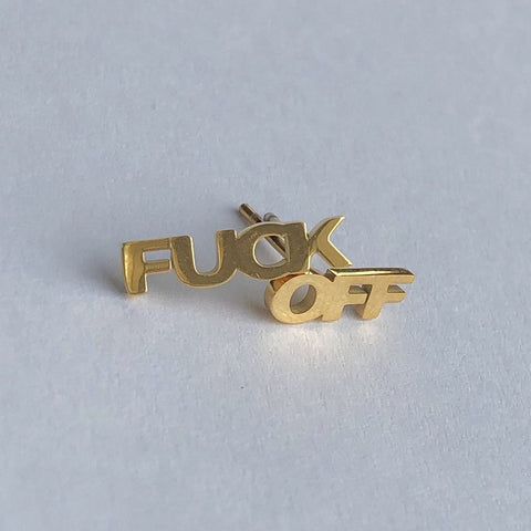Fuck Off studs (pair)