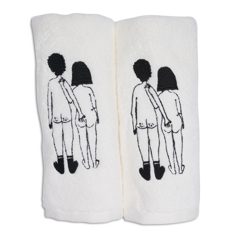Guest towel Naked Couple back (set of two) - 26/1