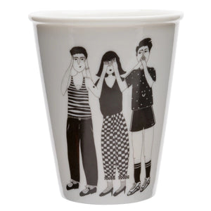Hear, See and Shut up cup