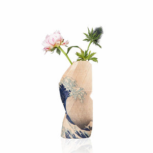 Small Paper Vase Cover - The Wave